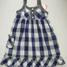 YOUNGLAND Girl's Size 6X Blue White Checkered Sundress, Dress, NEW