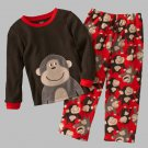 CARTER'S Boy's 4T Thermal Fleece Monkey Gorilla Pajama Pants Set, NEW