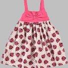 SUGAR & HONEY Girl's Size 3T Pink Bow Ladybug Sundress, Dress, NEW