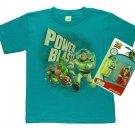 BUZZ LIGHTYEAR Boy's Size M 8 Turquoise T-Shirt with Toy Skydivers Set, NEW NWOT