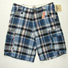 OSHKOSH B&#39;GOSH Boy&#39;s Size 6 Blue Plaid Flannel Cargo Shorts, NEW