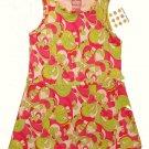 EMMA'S GARDEN Girl's 2T Bright Pink, Green Sundress, Stretch Dress, NEW