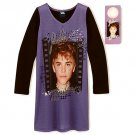 JUSTIN BIEBER Size 10-12 Purple Nightgown with Door Hanger, NEW