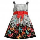 JESSICA ANN Girl's Size 4T Polka Dot Butterfly Sundress, Dress, NEW