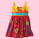 JESSICA ANN Girl's Size 3T Striped Floral Ribbon Dress Sundress, Dress