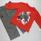 TIMBERLAND Boy's 18 Months Pants, Shirt and Sweat Hooded Sherpa Jacket Set, NEW