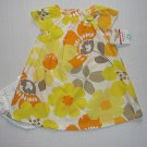CARTER'S Girl's 6 Months White, Yellow Orange Floral Smocked Dress Set, NEW