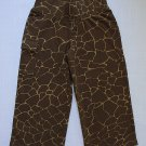 KC PARKER Girl's Size 6 Cropped Knit Brown Giraffe Print Pants NEW, MSRP: $40.00