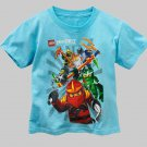 LEGO NINJAGO SPINJITZU Boy's Size 7 Blue T-shirt, Shirt, NEW