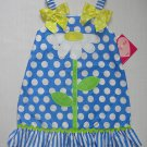 JENNY & ME NYC Girl's Size 4 Blue Dot Daisy Sundress, Dress, NEW