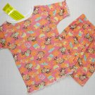 DREAM GIRLZ Size 3T Shorts Pajama Set, 'Cupcakes', NEW