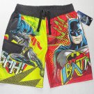 DC COMICS Boy's Size 7 BATMAN Swim Shorts, NEW