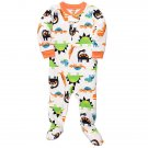 CARTER'S Boy's Size 3T DINOSAUR Fleece Footed Pajama Sleeper, NEW