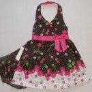 JESSICA ANN Girl's 18 Months Cherry Floral Dress, Sundress Set, NEW