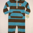 CARTER'S Boy's 12 Months Fleece One-Piece Romper, Jumpsuit, Mom's Big Guy, NEW