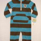 CARTER'S Boy's 12 Months Fleece One-Piece Romper, Jumpsuit, Mom's Big Guy, NEW