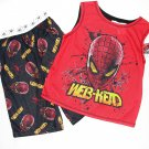 SPIDER-MAN Boy's Size 6/7 Boy's Pajama Tank Top Shorts Set, NEW