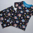 THE CHILDREN'S PLACE Boy's Size 3 SPACE Shorts Pajama Set, NEW