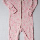 THE CHILDREN'S PLACE Baby Girl's 9-12 Months Pink Bunny Pajama Sleeper, NEW