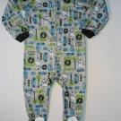 BUNZ KIDZ Boy's Size 3T DOG Rock Music Gray Footed Pajama Sleeper, NEW