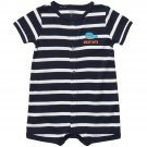 CARTER'S Boy's Size 9 Months Striped WHALE Great Catch Romper, Shortalls, NEW