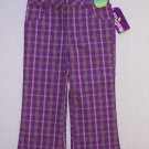 HEALTHTEX Girl's Size 3T Purple Striped Plaid Pants, NEW