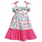 ASHLEY ANN Girl's Size 6X Blue Butterfly Pink Floral Sundress, Dress, NEW