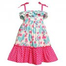 ASHLEY ANN Girl's Size 4 Blue Butterfly Pink Floral Sundress, Dress, NEW