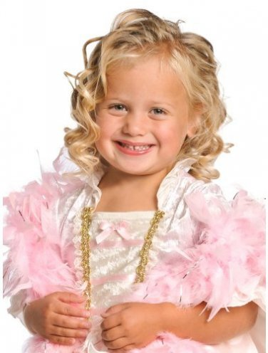 LITTLE ADVENTURES Girl's Pink Costume Feather Boa, NEW