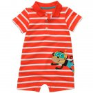 CARTER'S Boy's 6 Months Striped SCUBA MONKEY Romper, One-Piece, NEW