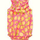 CARTER'S Girl's 6 Months Pink Lemon Summer Romper, Sunsuit, NEW