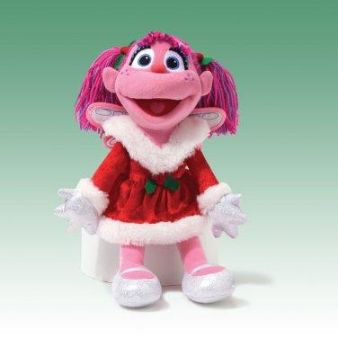 "GUND SESAME STREET CHRISTMAS HOLIDAY ABBY CADABBY Plush 12"" Doll, NEW"