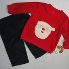 CARTER'S CHILD OF MINE Boy's 3-6 Months CHRISTMAS SANTA Corduroy Outfit, NEW