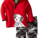 SESAME STREET Boy's Size 3T Hooded Dalmation Fleece Pullover Outfit, NEW