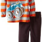 SESAME STREET Boy's Size 4T MONSTER TRUCK Fleece Pants Set, Outfit, NEW