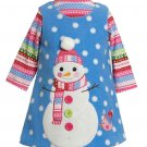 BONNIE JEAN Girl's Size 18 Months Fleece Winter Snowman Dress Jumper Set