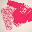 FIRST IMPRESSIONS 3-6 Months 3-Piece Mommy Loves Me Cheetah Set NEW