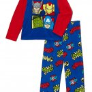 MARVEL AVENGERS HULK, THOR, IROMAN Boy's Size 8 Fleece Pajama Set, NEW