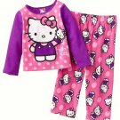 HELLO KITTY Girl's Size 3T Fleece Pink Puppet Pajama Pants Set, NEW