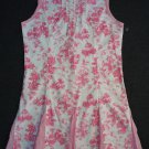 FLAPDOODLES Girl's Size 6 White Pink Countryside Toile Pleated Dress, NEW