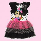 DISNEY Girl's Size 6 MINNIE MOUSE Tutu Dress with Attached Shrug, NEW