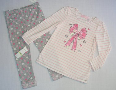 KIDS HEADQUARTER'S Girl's 5 Shirt, Pants, Pink Fleece Coat Jacket Outfit, Set