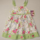 BLUEBERI BOULEVARD 24 Months White Floral Gingham Dress, NEW
