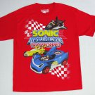 SONIC FOX ALL STARS RACING TRANSFORMED Size 10-12 Red T-Shirt, Tee, Shirt, NEW