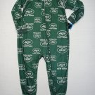 NFL NEW YORK JETS Boy's Size 3T Green Footed Pajama Sleeper, NEW