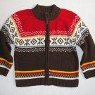 CARTER'S Boy's Size 24 Months Heavyweight Knit Cardigan Zip Up Sweater
