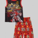 TRANSFORMERS BUMBLEBEE VS STING Boy's Size 10/12 Pajama Tank Shorts Set, NEW