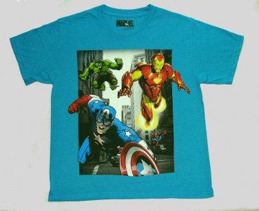 MARVEL AVENGERS Boy's Size 10/12 Tee, T-Shirt, Shirt, NEW