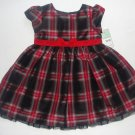 CARTER'S Girl's 18 Months Christmas Holiday Dress, Red Glitter Shrug Sweater NEW