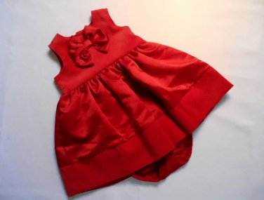 CARTER'S Girl's 6 Months Red Christmas Holiday Dress Set, NEW